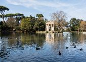 Giardino Del Lago In Rome Italy Lake