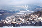 The skiing resort of Zelezna Ruda (Iron Ore).  Beautiful village in a center of The National Park Su