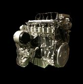 Transparent Motor Car Engine
