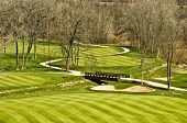 Golf Course Bridge Scene