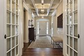 foto of entryway  - Foyer in upscale home with french doors - JPG