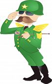 picture of riding-crop  - illustration of an Army General standing to attention - JPG