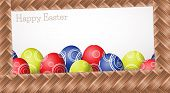 Wicker Easter Card