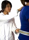 Physical Therapist Helps Patient With A Gait Belt