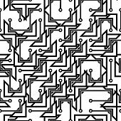 Monochrome seamless abstract pattern