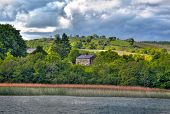 View to Irish house on River Shannon