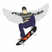 Fly On Skateboard