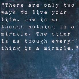 picture of einstein  - Inspirational quote by Albert Einstein on earthy blue background - JPG