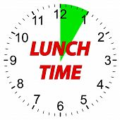 Lunch time clock.