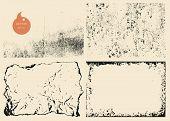 Grunge Retro Vintage Paper Texture, Vector Background
