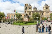 Presidential Palace and Cathedral in La Paz, Bolivia