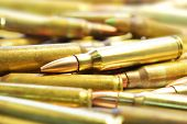 image of m16  - a pile of m16 rifle 5 - JPG
