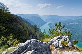 foto of serbia  - Viewpoint Banjska rock at Tara mountain looking down to Canyon of Drina river - JPG