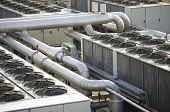 picture of hvac  - air cooling industrial system abstract industry concept - JPG