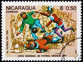 Postage Stamp Nicaragua 1985 Evolution Of Soccer, 1500