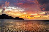 Vibrant Tropical Sunset