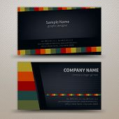 Premium business Card Set. Vector illustration. EPS10
