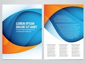 stock photo of booklet design  - vector business brochure - JPG
