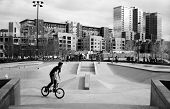 Urban skate park in Denver, Colorado.