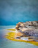 Geyser Basin Water Formation, Yellowstone National Park, Wyoming