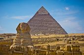 Pyramid Of Khafre And Great Sphinx In Giza, Egypt