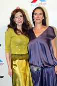 HOLLYWOOD - Elena Giammas and Marie Halaka arrive at the 2013 Philhellenes Gala benefiting Praksis a