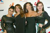 HOLLYWOOD -  Vassy Karagiorgos, Patricia Kara, Sofia Milos and Ariana Savalas arrive at the 2013 Phi