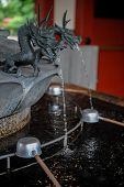 Purification Fountain With Sculpted Dragon Head