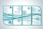 Bright Christmas vector card.