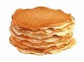pancakes isolated on white