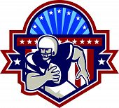 American Football Qb Quarterback Crest