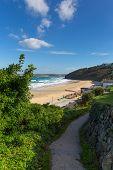 South West Coast Path Carbis Bay Cornwall England