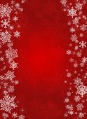image of shimmer  - Dark red christmas background with white snowflakes - JPG