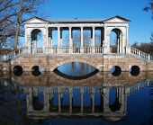 picture of tsarskoe  - Famous Marble bridge in Tsarskoe selo - JPG
