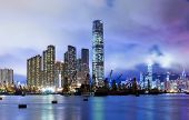 Kowloon skyline in Hong Kong