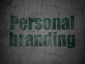 Advertising concept: Personal Branding on grunge wall background