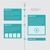 stock photo of box-end  - Blue Timeline Infographics  - JPG