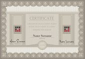 stock photo of prospectus  - vector Certificate voucher coupon paper A4 template - JPG
