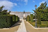 Madrid, Plaza De Oriente Central Gardens