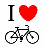 print I like bicycle, vector illustration background