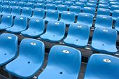 Grandstand Of Stadium Diagonally