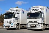 Two Mercedes-benz Actros Trucks