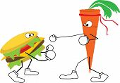 Carrot Vs Hamburger