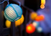 Small Coloured Paper Lanterns