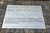 Statue Of Graf Maximilian Joseph Von Montegelas