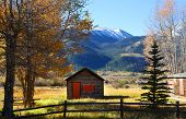 Old cabin in the twin lakes recreation area Colorado