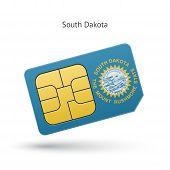 State of South Dakota phone sim card with flag.