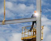Workers Welded Steel Structures