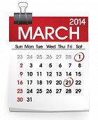 March 2014 Calendar Vector