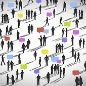 stock photo of gathering  - large group of Social Networking People Vector - JPG